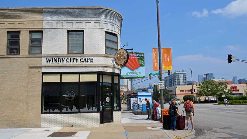 Windy City Café, CTA Blue Line, CVS Pharmacy