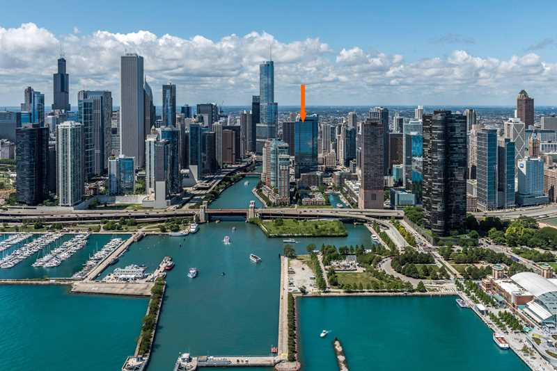 Streeterville's North Water apartments offer dramatic views, lavish amenities