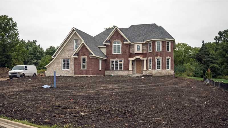New luxury homes nearing completion in Kildeer