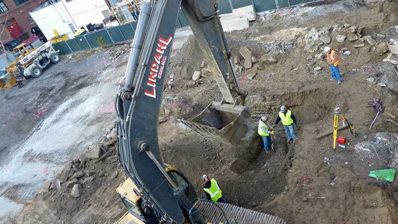 Site work underway at Optima's 200 East Illinois apartments