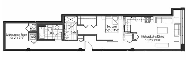 1313 Lofts – the ultimate in bowling alley floor plans?