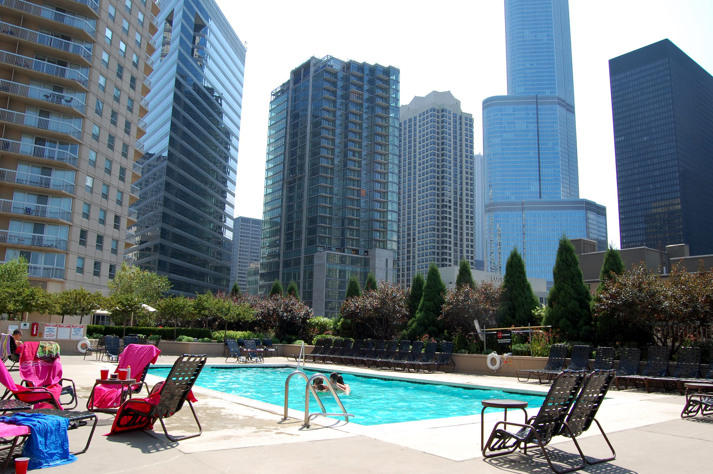 Grand Plaza's pool and common amenities