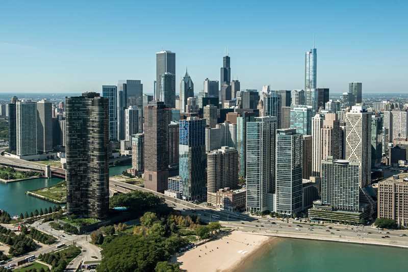 Views of Chicago's near north beaches