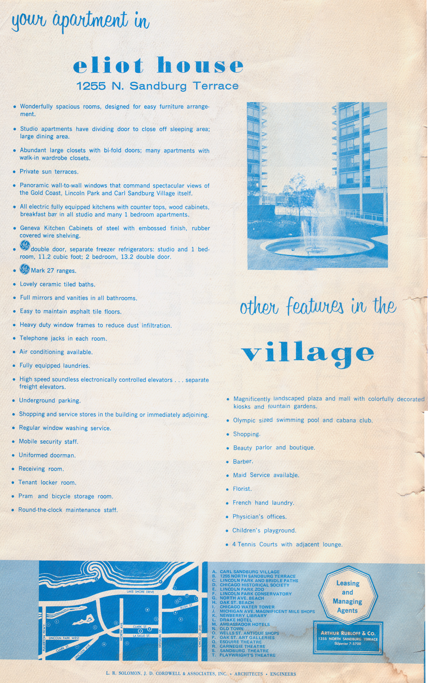 "Promotions from the past: ""The ideal home-in-town"" at Sandburg Village"