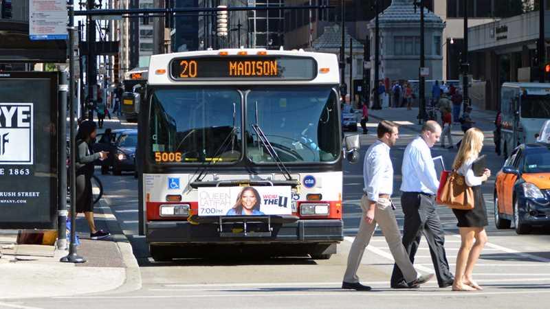 CTA bus on Madison St, Chicago