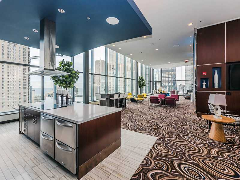 Tour the Sky Lounge at the new State & Chestnut apartments