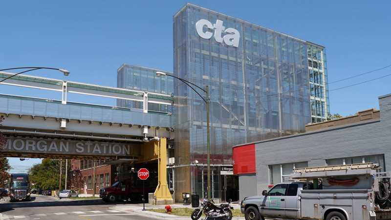 CTA stop at Morgan St, Chicago