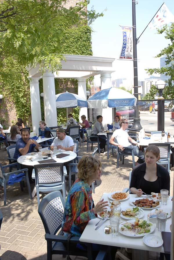 Lunch at Athena Greek Restaurant, 212 S Halsted St
