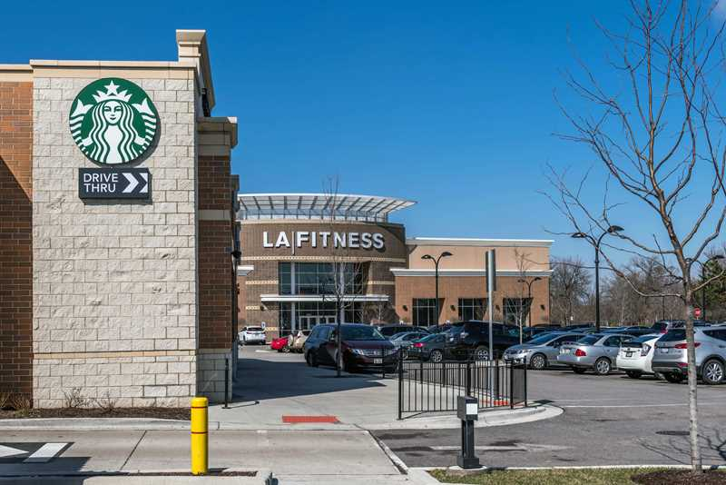 Starbucks, LA Fitness adjacent to Tapestry Glenview