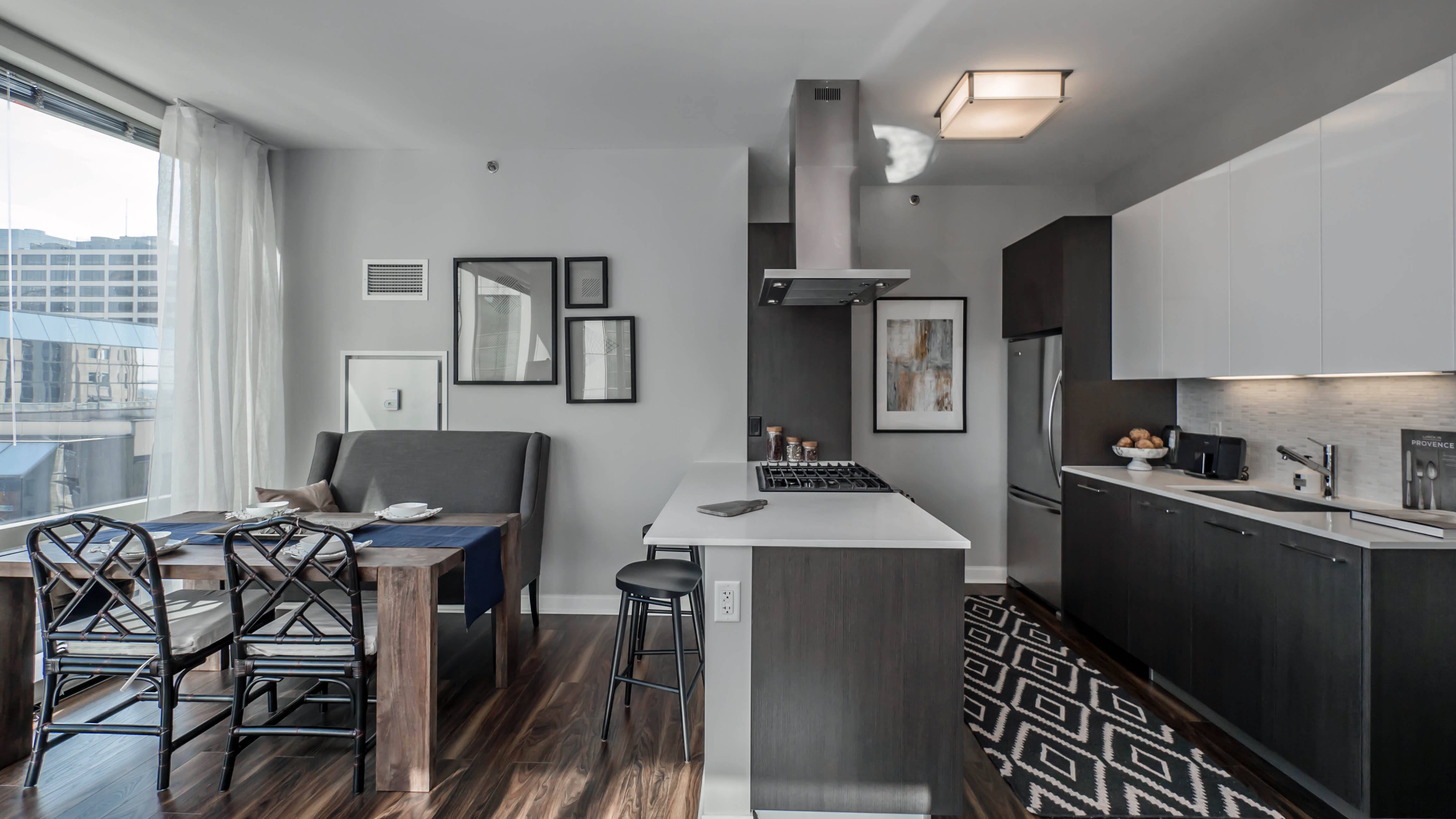 Collectible Style In A One Bedroom Nyc Apartment: Two-bedroom Corner Apartments At OneEleven Showcase
