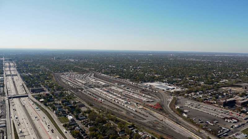 Englewood freight yard advances