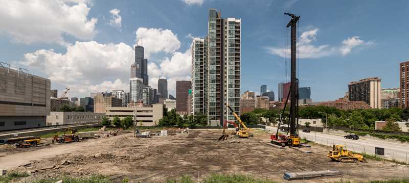 Apartments filling in a bleak stretch of Clark Street