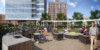 The Sinclair, Chicago, deck rendering