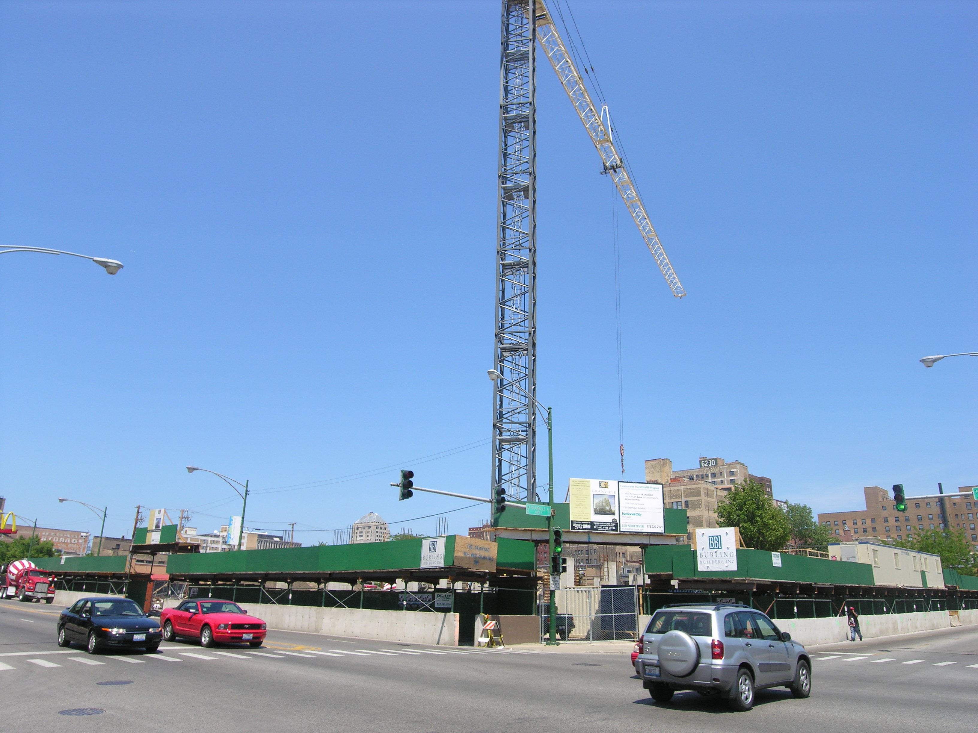 Construction update: The Granville in Chicago's Edgewater neighborhood