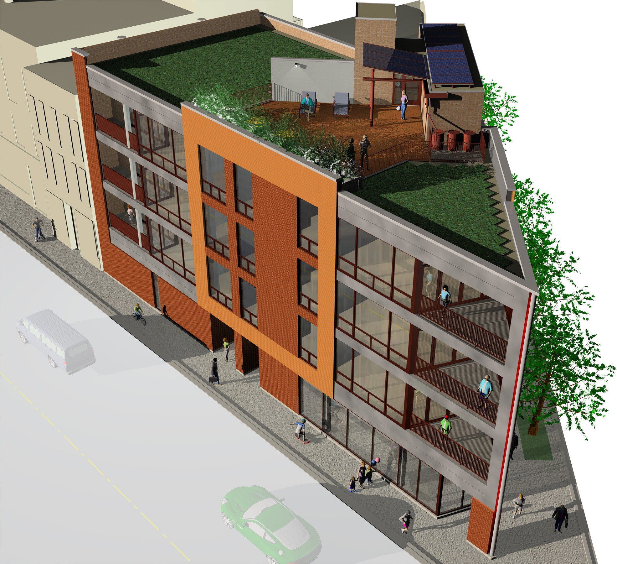 Clybourn Point –in the red on green development