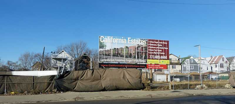 New construction on the former site of California Estates