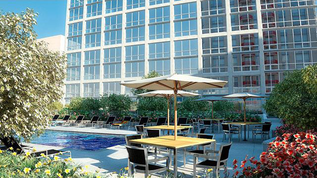 Amenity floor opens at 215 West