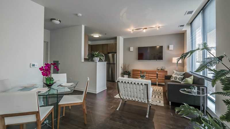 Rent a new Evanston townhome with high-rise amenities