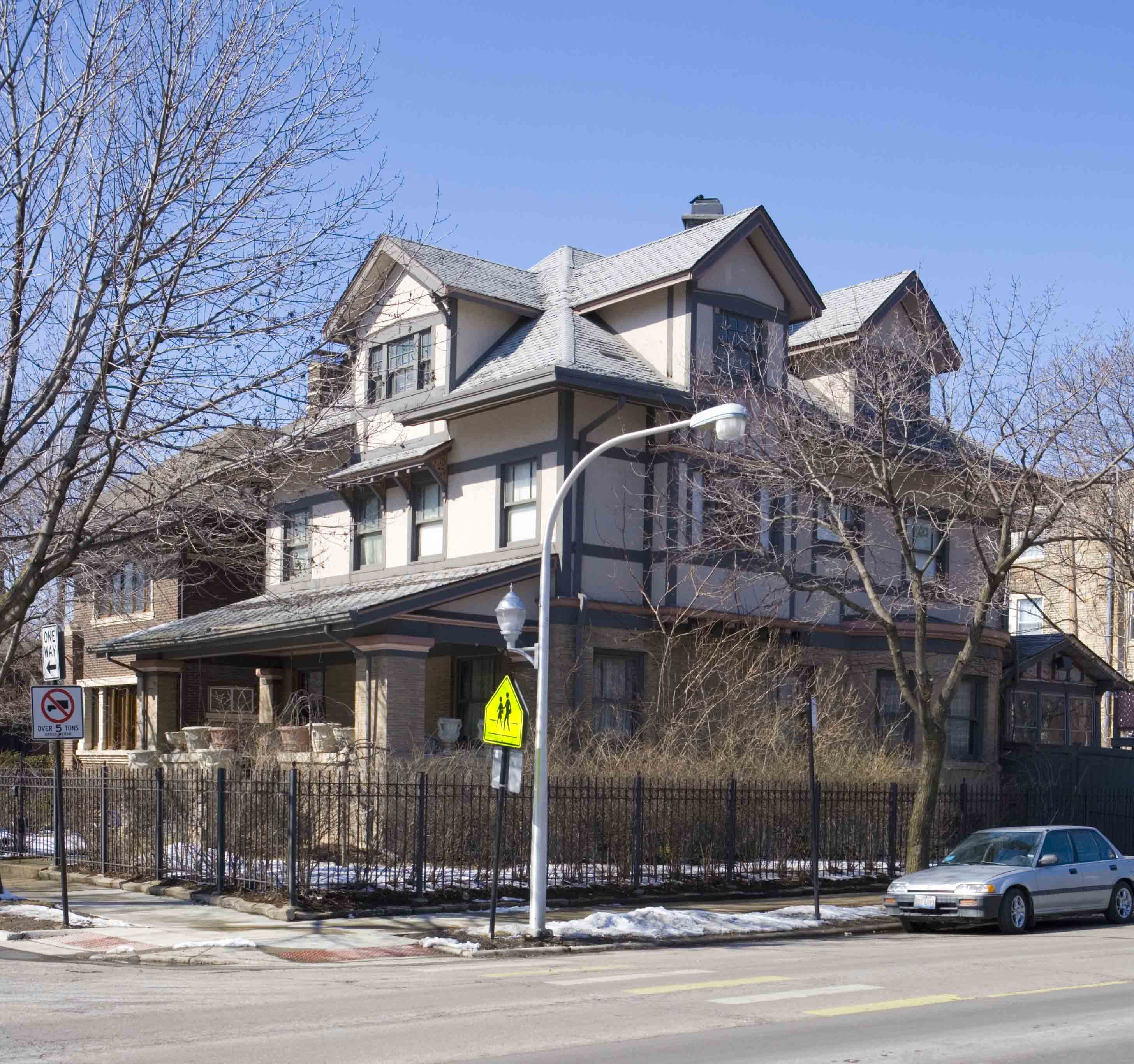 Uptown's Hutchinson Street is home to palatial mansions near the lake.