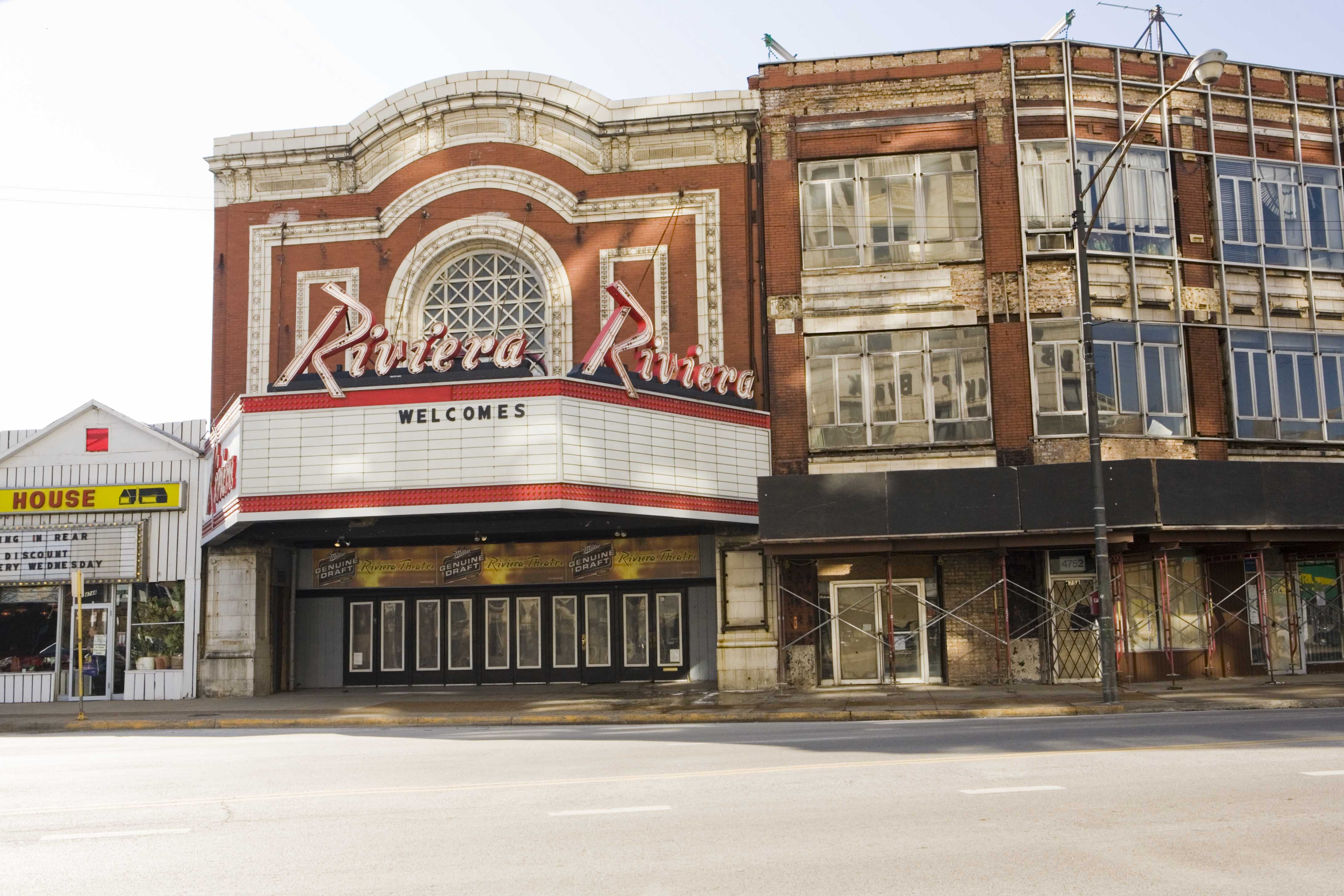 The Uptown entertainment district includes The Riviera Theatre.