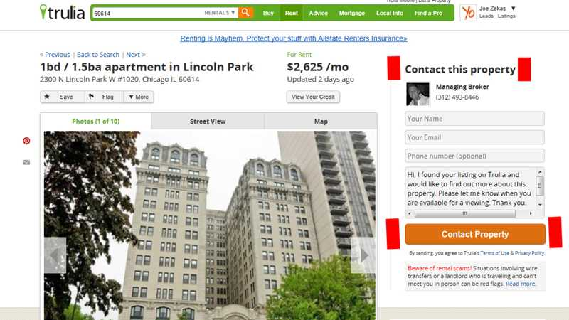 On Zillow, Trulia and hotpads, almost every rental service ad is illegal