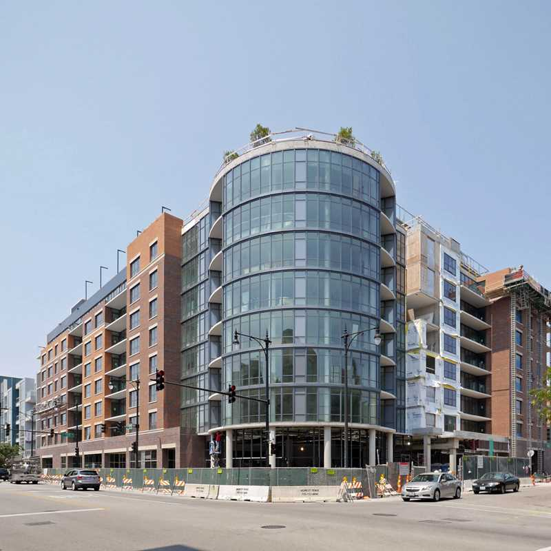 Two new West Loop apartment buildings near completion