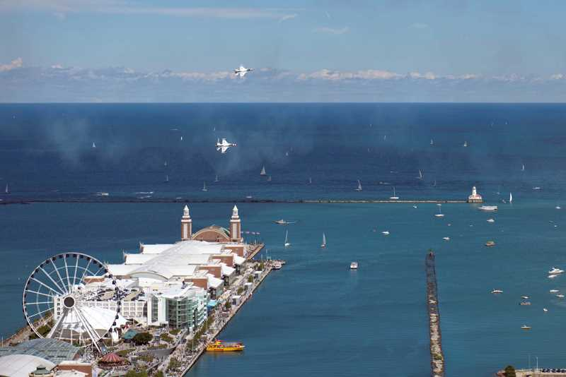 Enjoy the Air & Water Show from a luxury North Water apartment