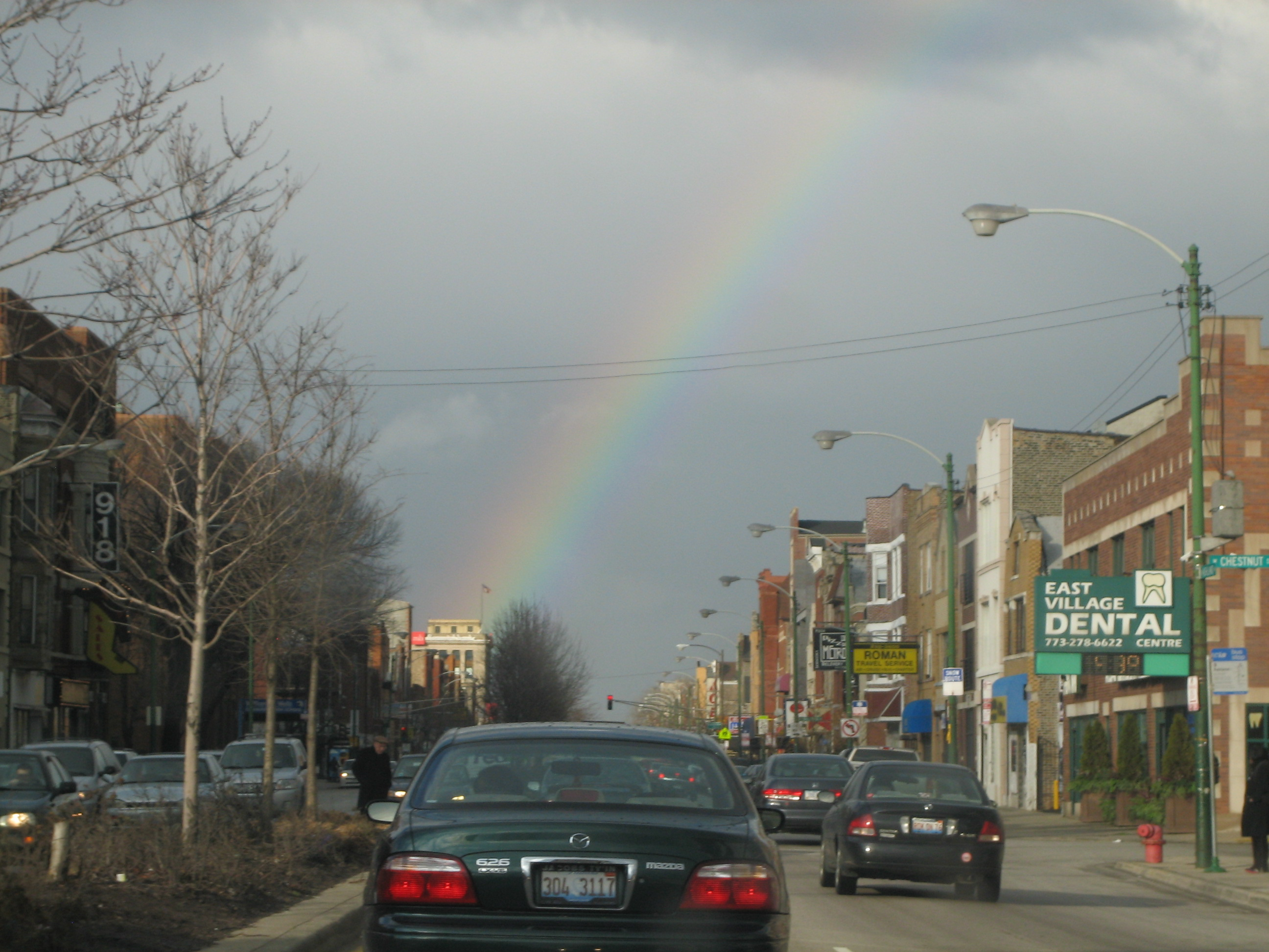 Somewhere over the rainbow in Chicago's East Village neighborhood