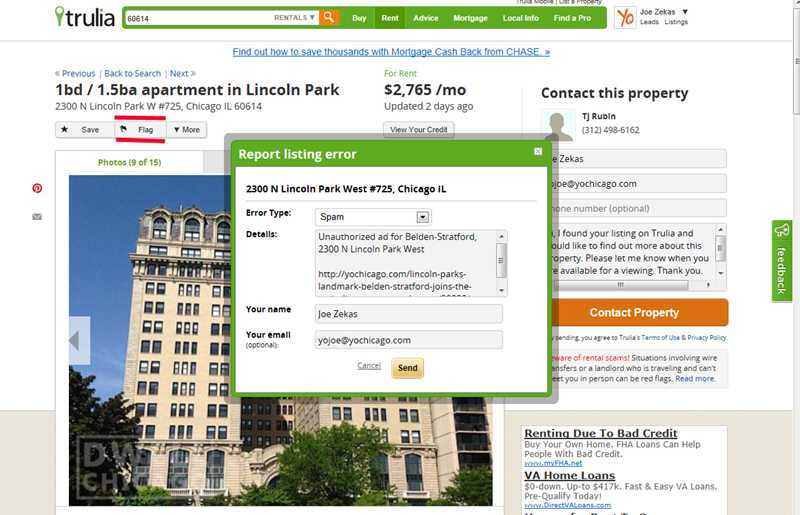 Trulia deletes unauthorized rental service ads, blocks user accounts