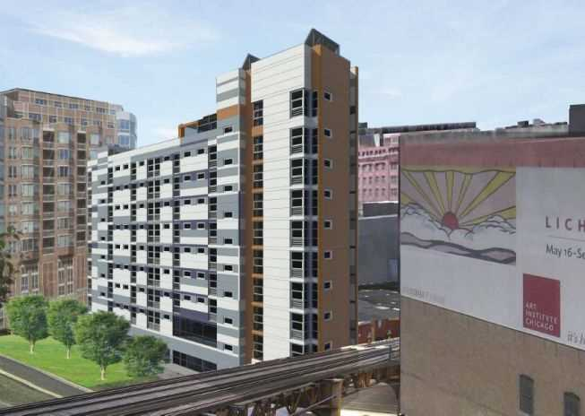West Loop affordable apartments topped out, closing in