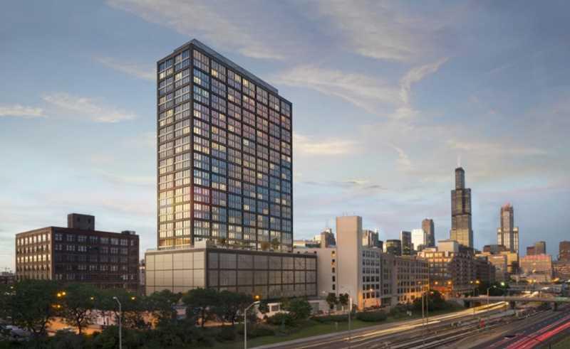 Rendering, Landmark West Loop, Chicago
