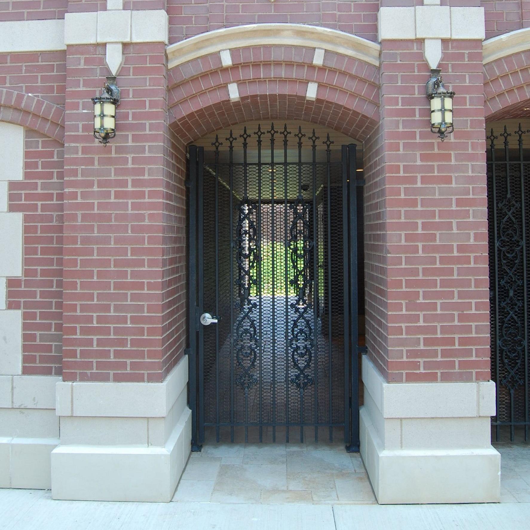 Burling Place iron door