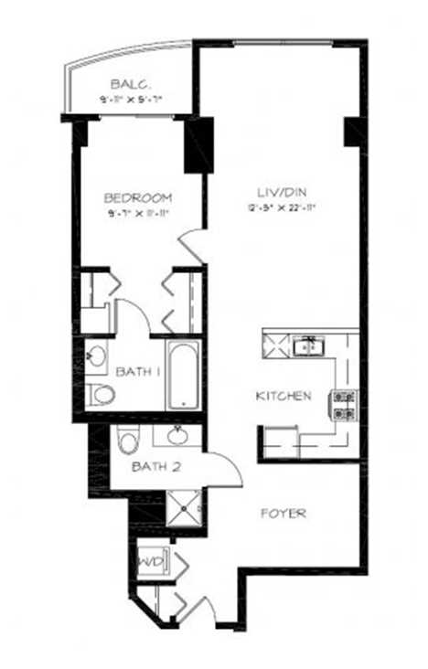 The South Loop\'s best apartments – one-bedroom floor plan ...