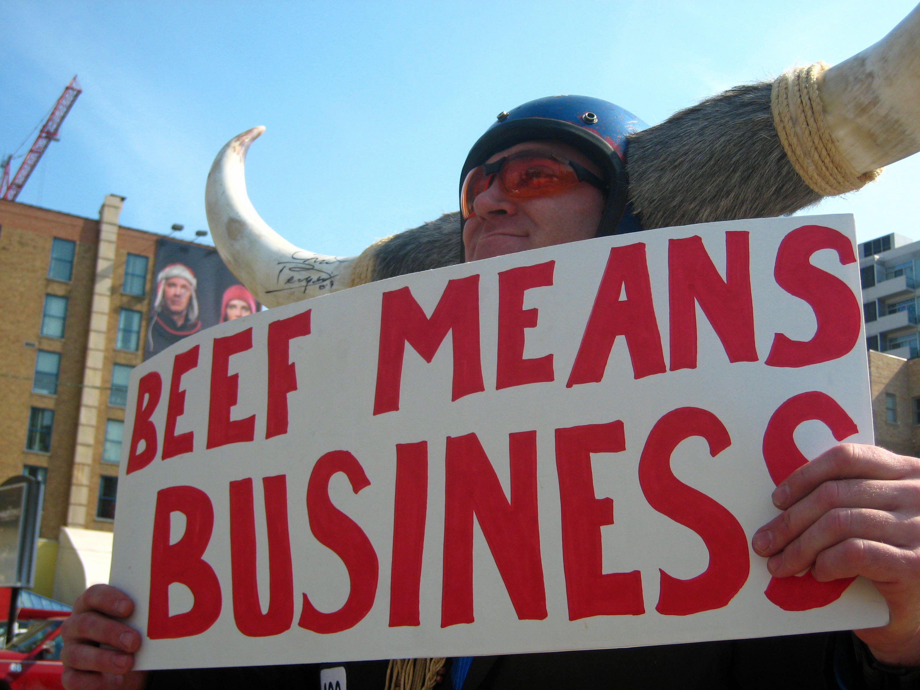 On the street: Beef means business on Orleans