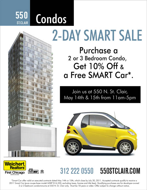 Deal of the day: Buy at 550 St Clair this weekend and get a Smart car