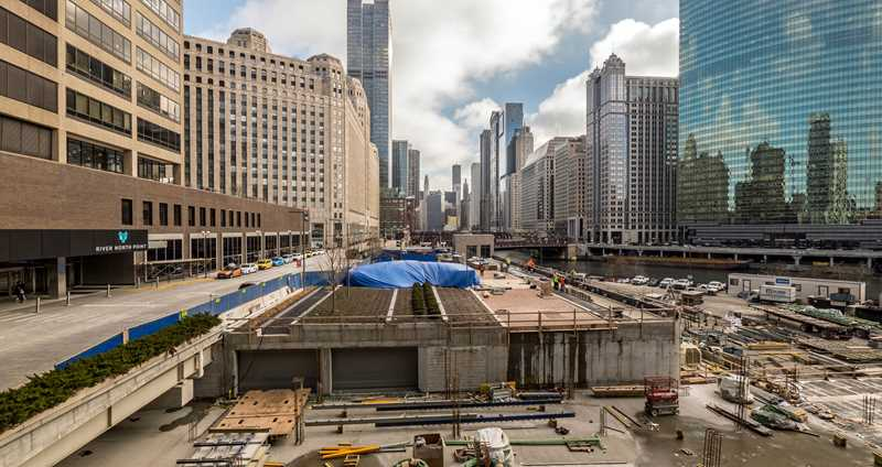 An on-site look at Wolf Point construction and views