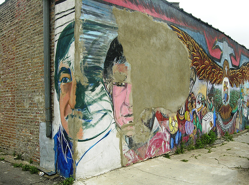 Do murals denote a depressed community?