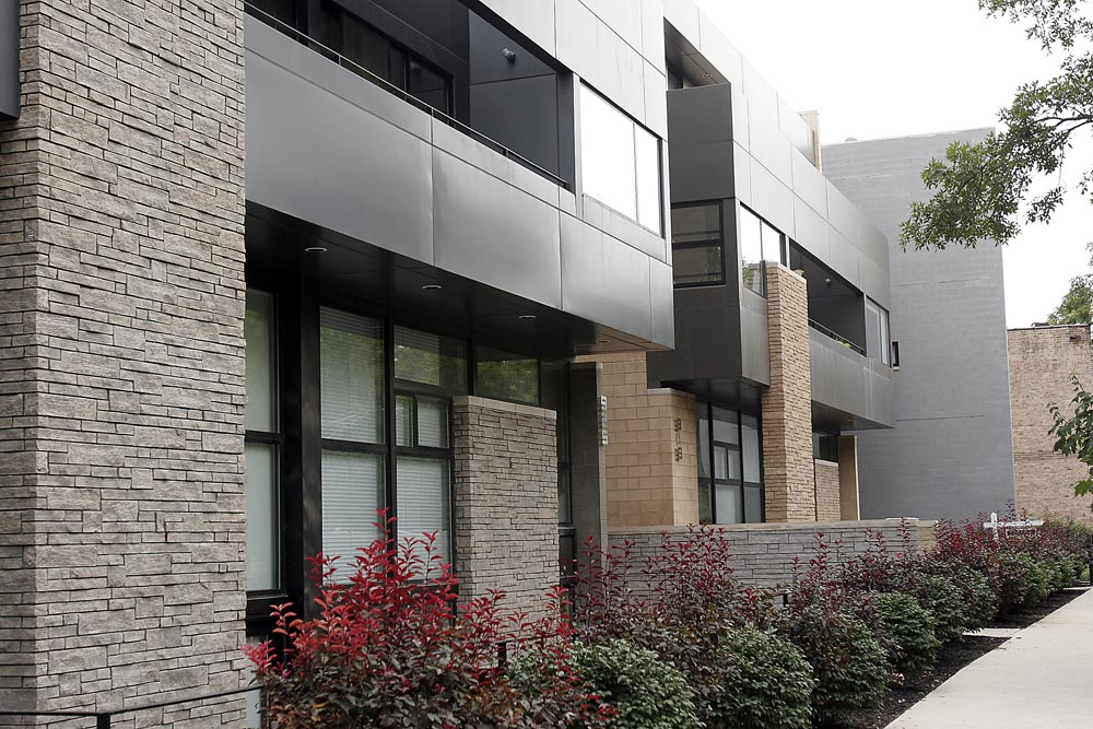 Contemporary homes in West Town.