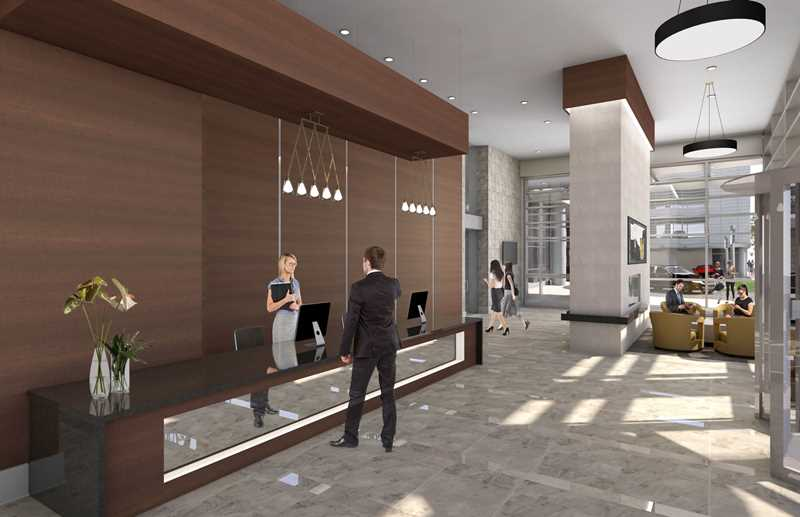 Lobby rendering, Alta Roosevelt, Chicago
