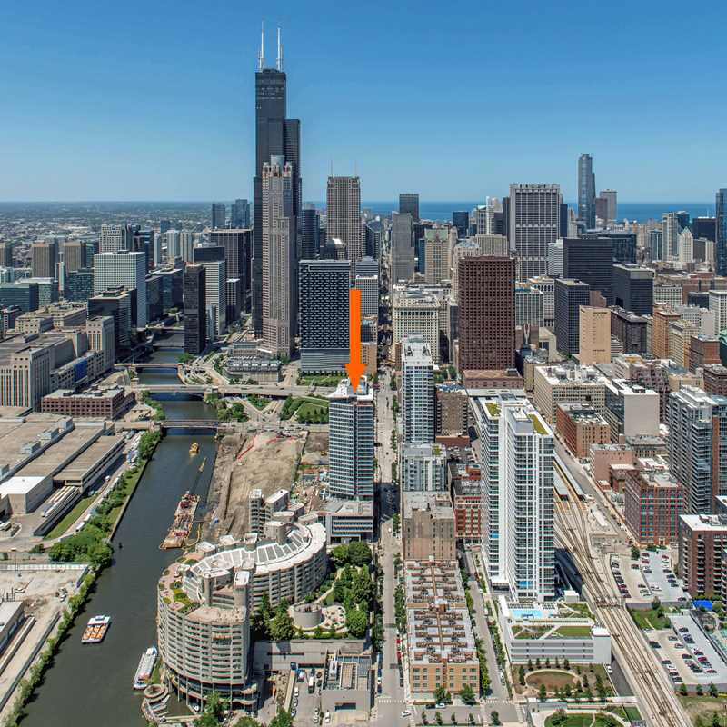 Aerial view of The Cooper location, Chicago