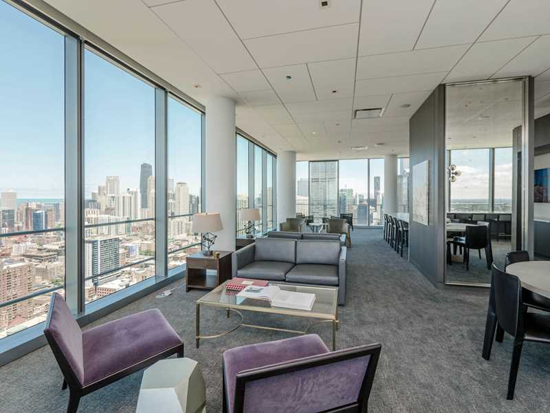 46th floor lounge, Wolf Point West, Chicago
