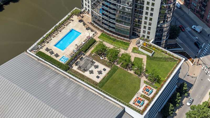 River North's Kingsbury Plaza apartments are on the riverfront