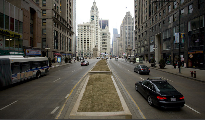 Narrated slideshow of Michigan Avenue proposal
