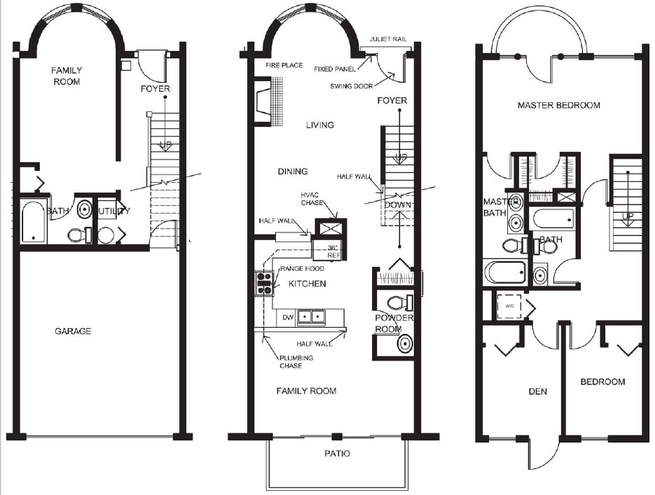 marvelous townhouse home plans #8: 233773 Town Houses Plans Sea On House Townhomes