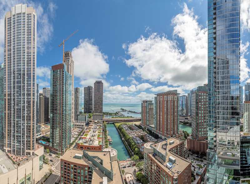 Dramatic views from Streeterville's new 465 North Park apartments