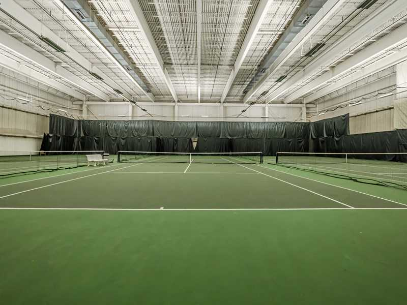 Winter is tennis time at Streeterville's McClurg Court apartments