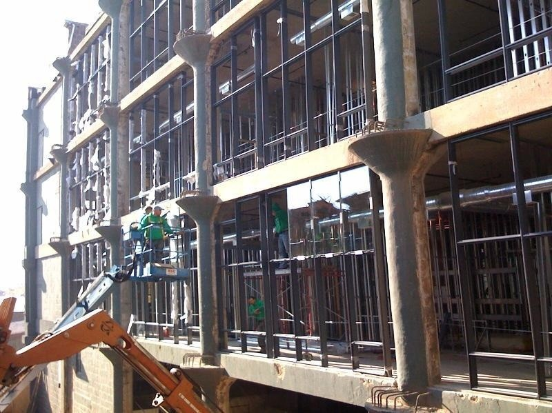 Photo of construction at Lofts at 1800, a 91-unit loft development at 1800 W Grace St in North Center, Chicago