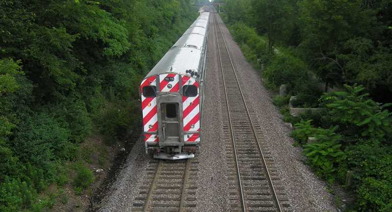 Metra train, Winnetka, IL