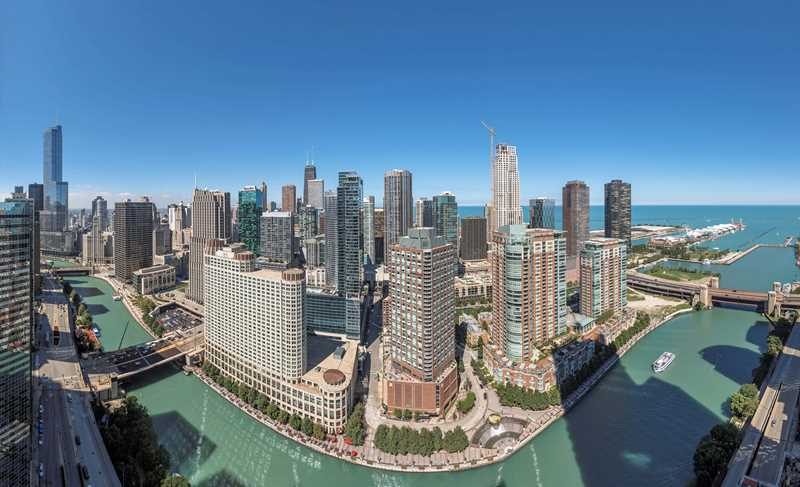 Great lake and city views from Lakeshore East's newest apartments at Coast