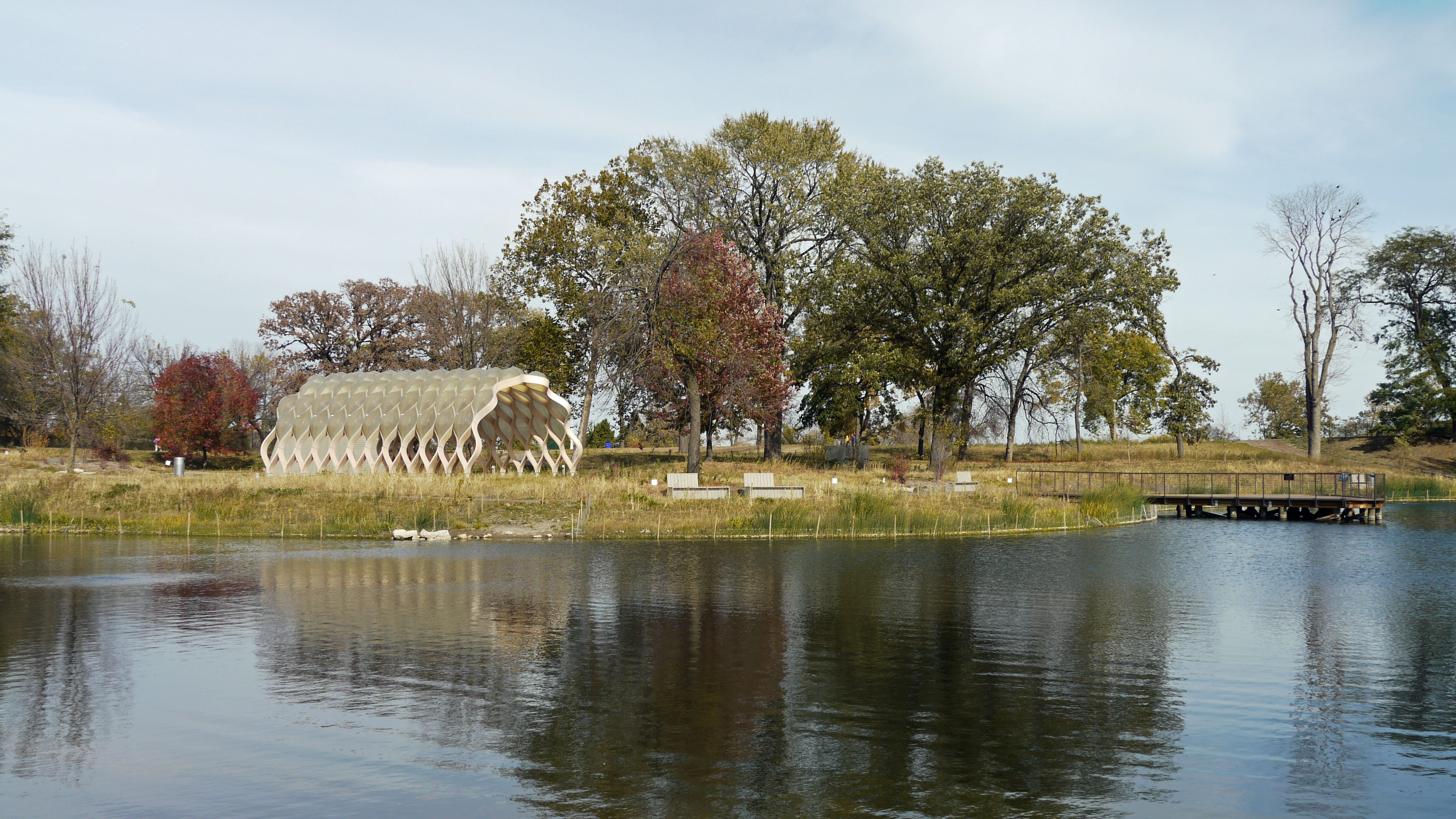 Nature Boardwalk at Lincoln Park's South Pond
